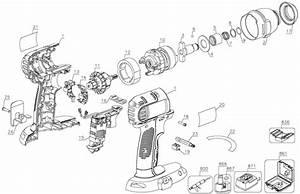 Dewalt Dc827 Cordless Impact Driver Parts  Type 2  Parts
