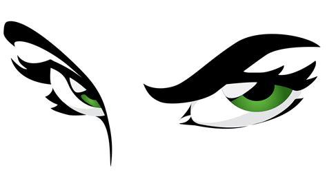 Yeux Graphiques Vecteur Vert Fond Blanc Papier Peint