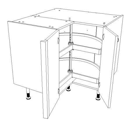 element cuisine angle bas meuble bas d 39 angle pour cuisine équipée largeur 90 cm x 90 cm