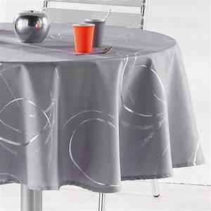 Nappe Table Ronde : nappe ronde d180 cm bully perle nappe de table eminza ~ Teatrodelosmanantiales.com Idées de Décoration
