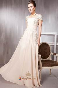 Photo Size Chart Long Pale Pink Prom Dresses With Lace Cap Sleeves Pale