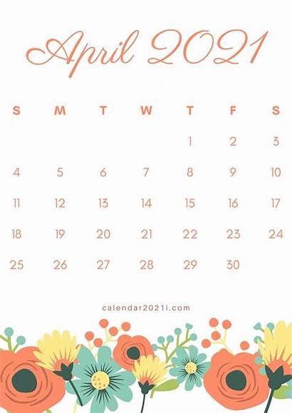 Calendar 2021 Printable Floral March Monthly September