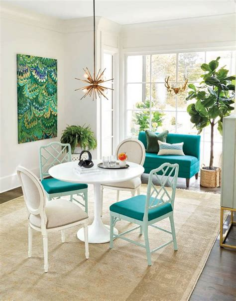faux fiddle leaf contemporary dining room with crown molding by ballard