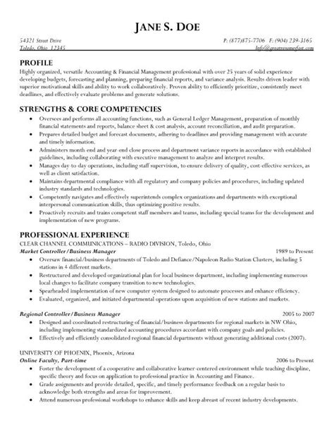Exle Of A Business Administration Resume by Market Controller Business Manager Resume