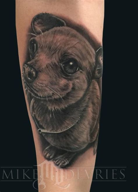 abstract dog tattoos