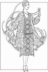 Coloring Pages Dover Adult Creative 1920s Haven Jazz Age Fashions Books Sun 1391 Publications Ming Deco Sheets Doverpublications Ju Colouring sketch template