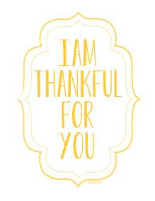 Printable I AM Thankful for You