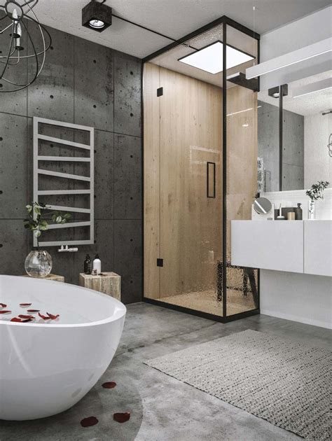 loft bathroom ideas chic industrial loft in lithuania gets modern updates