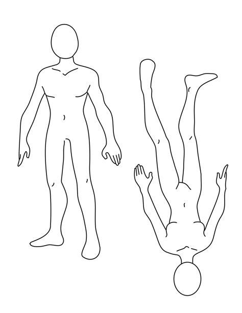 human body outline printable   clip art