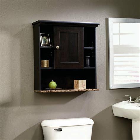 bathroom storage cabinet wood  toilet shelf medicine