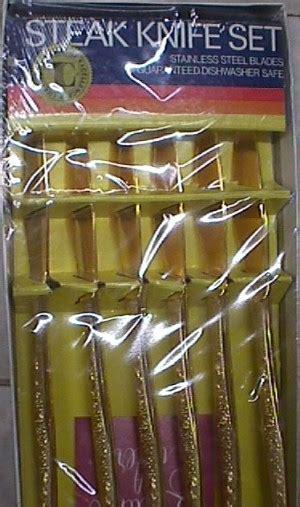 Gold Plated Steak Knife Set  Jack Berg Sales