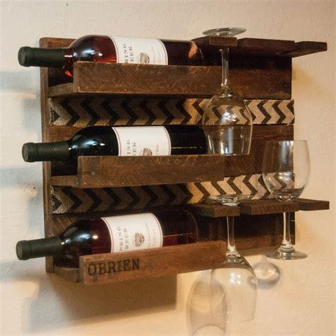 wooden wine rack unique custom gift gift for parents gift for wine rack
