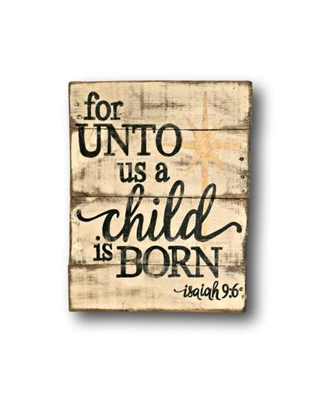 child  born sign wood christmas sign