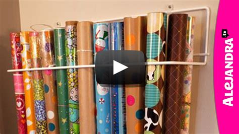 how to organize amp store wrapping paper