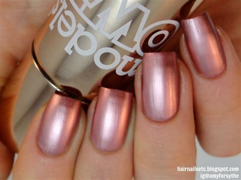 Models Own Colour Chrome Rose Nail Polish Swatch And