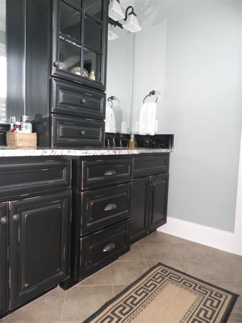 antique black kitchen cabinets vintage onyx distressed finish kitchen cabinets 4077