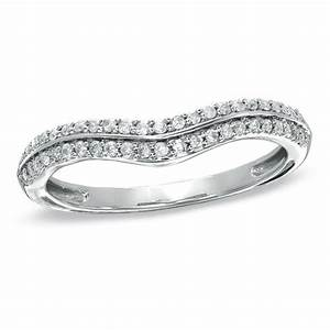 15 CT TW Diamond Double Row Contour Wedding Band In