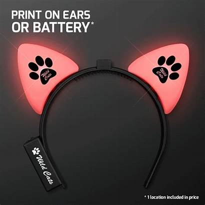 Cat Multicolour Ears Glow Headband Blinking Led