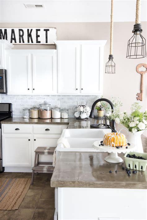 peel and stick kitchen tile diy whitewashed faux brick backsplash bless 39 er house