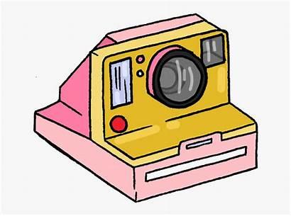 Aesthetic Camera Polaroid Yellow Pink Clipart Oldfashion