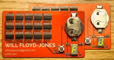 logic pcb business card electronics lab