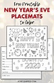 Free Printable New Year's Eve Placemats to Color • Rose ...