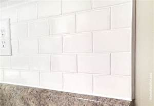 Outside Corner Metal Tile Trim by How To Install A Kitchen Backsplash The Best And Easiest