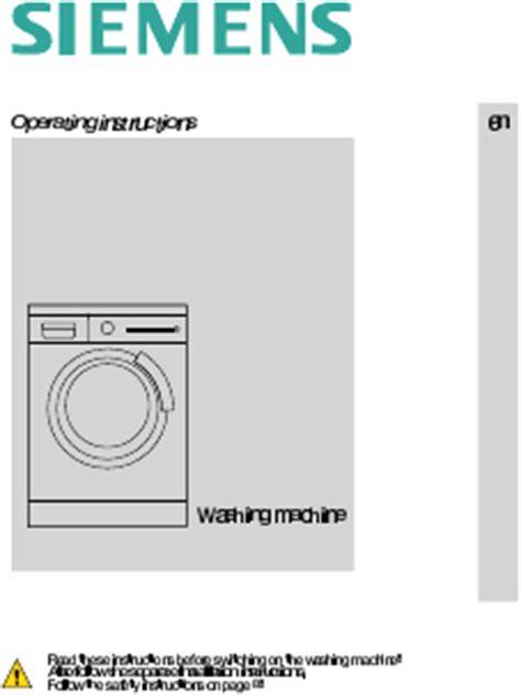 lave linge en anglais siemens wm10s740ee mode d emploi notice d utilisation manuel utilisateur t 233 l 233 charger pdf