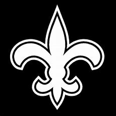 """12"""" New Orleans Saints Fleur De Lis Vinyl Decals Window"""