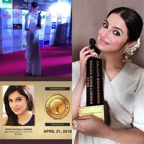divya khosla kumar receives dadasaheb phalke excellence
