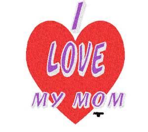 Glitter I Love My Mom