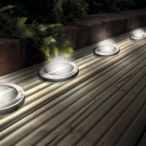 solar led deck lights stainless steel solar led light deck ground lights a set