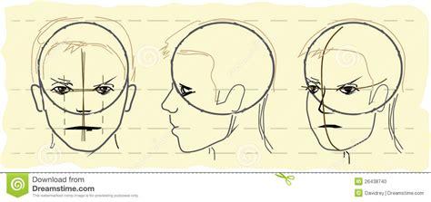 Sketch Human Head Stock Photo Image