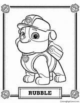 Paw Patrol Rubble Coloring Page Coloring Page Central