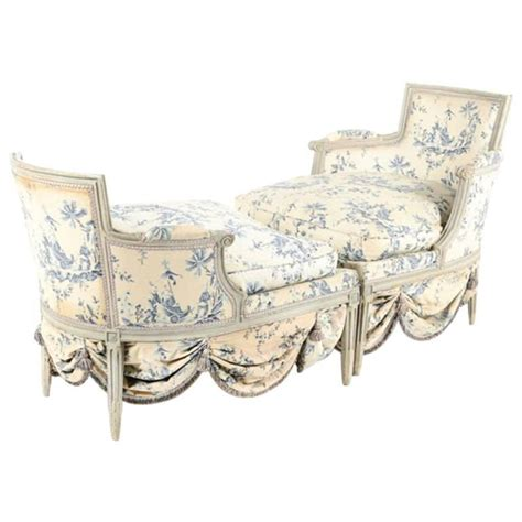 chaise longue from circa 1800 fabric by madeleine