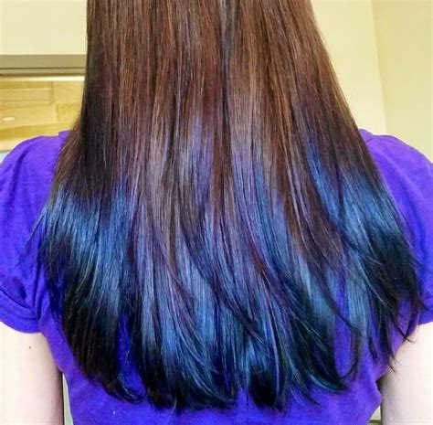 My Peacock Ombre Colored Manic Panic Purple And Blue Dyed