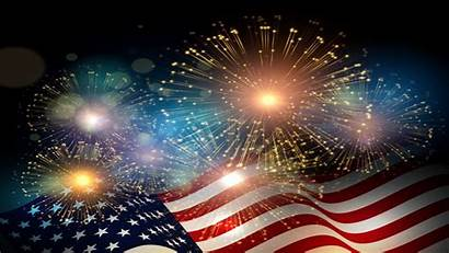 Fireworks Flag July American Independence Celebrations Backgrounds