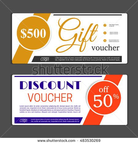 Gift Voucher Template Can Be Use Stock Vector 483530269