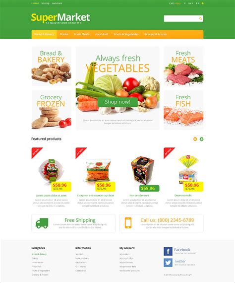Market Website by 29 Grocery Store Website Themes Templates Free