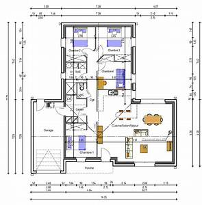 plan maison 4 chambre plan maison moderne r c 4 chambres With superior plan maison r 1 100m2 2 plan maison r 1 160 m2