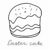 Fudge Raisins Drawn Easter Colorful Decoration Cake Sweet sketch template