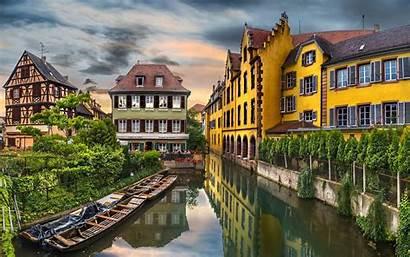 Europe Colmar Landscape France Building Canal European