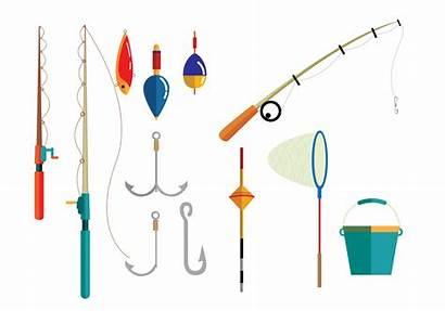 Fishing Equipment Vectors Lure Svg Fish Rod