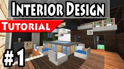 minecraft modern house interior design tutorial part 1 1 8 how to make