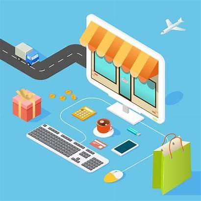 Commerce Ecommerce Shopping Social Platform Illustration Business