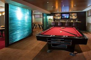 Wine Cellar and Gaming Room - Contemporary - Family Room