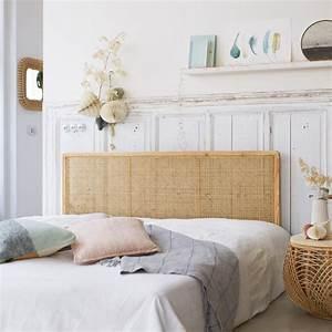 Lit En Rotin : tete de lit double canne vente de meubles en tiges de rotin chambre ~ Teatrodelosmanantiales.com Idées de Décoration
