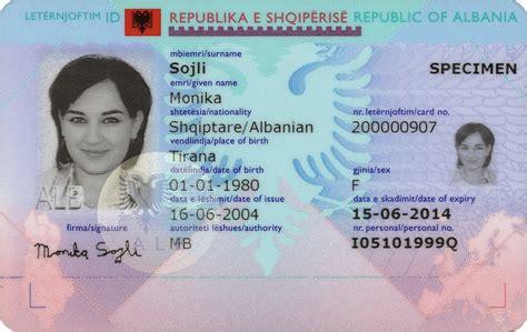 si e d interpol albanian identity card