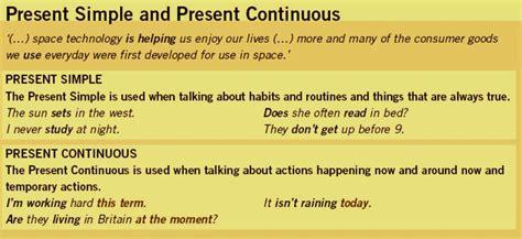 Present Simple Vs Present Continuous Wordsarewordsarewords