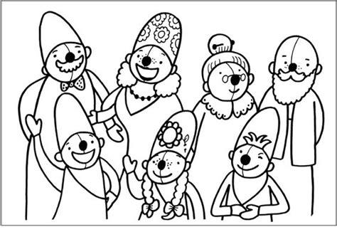Pim En Pom Kleurplaat by Kleurplaat Pompom Familie Schatkist Pompom